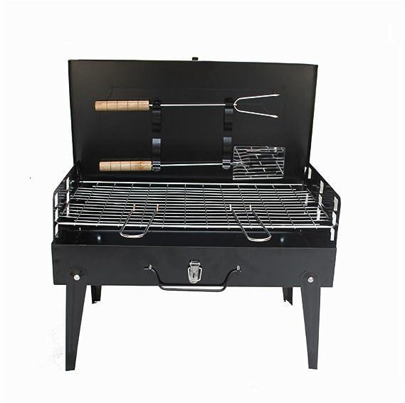 HomJo Barbacoa grill Parrilla de la barbacoa Parrilla de barbacoa portable al aire libre que acampa Patio de barbacoa del carbón de leña del carbón de leña ...