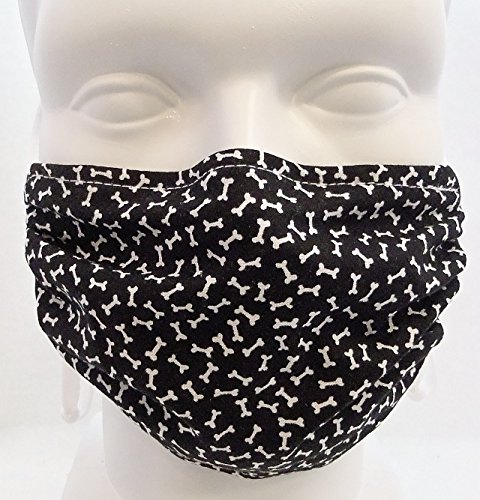 Breathe-Healthy-Dust-Allergy-Flu-Mask-Comfortable-Washable-Protection-from-Dust-Pollen-Allergens-Cold-Flu-Germs-with-Antimicrobial-Asthma-Mask-Black-White-Dog-Bones