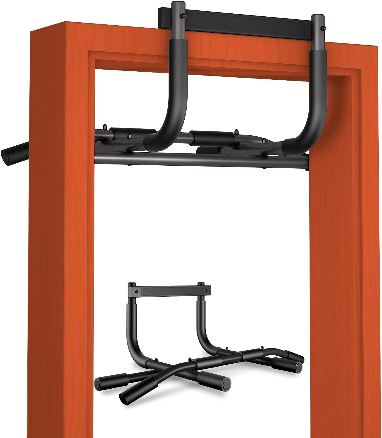 AOAOGYM Multi Grip Pull Up Bar for Doorway,Chin Up Bar Heavy Duty Doorway Trainer for Home Gym Exercise Equipment,Pullup Bar Fits Most Door Ways