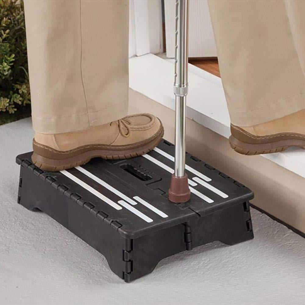 plastica Sgabello pieghevole portatile roulotte da viaggio per cucina bagno - Scala nera antiscivolo in PP per bambini in gravidanza