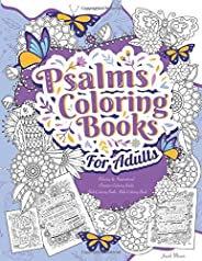 Psalms Coloring Books For Adults: Relaxing & Inspirational Christian Coloring Books Adult Coloring Books, Bible Coloring Boo