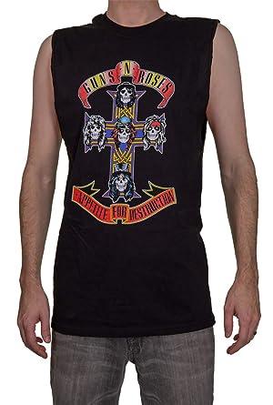 4cd894df67d Amazon.com  Calhoun Guns N Roses Appetite for Destruction Mens Sleeveless  Shirt  Clothing