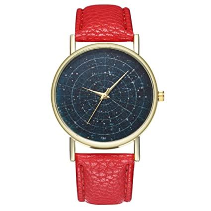 Amazoncom Yeefant Star Map Pattern Trendy Student Couple Leather - Star map watch