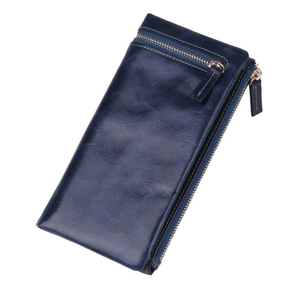 3 Soft Women's Leather Wallets RFID Blocking Vintage Design Large Capacity Handbag (color    1)