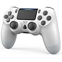 YCCTEAM Wireless Game Controller Compatible with PS-4 Console/iOS 13 /Android 10 /MAC/PC (White)