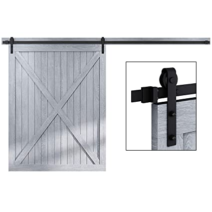 EaseLife 12 FT Heavy Duty Sliding Barn Door Hardware Track Kit - Ultra Hard  Sturdy | Sliding Smooth Quiet | Easy Install | Fit up to 72