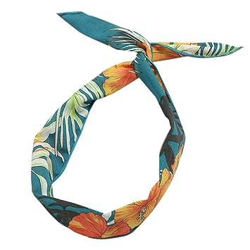 Lunji - Diadema con lazo de gasa elástica, turbante para yoga