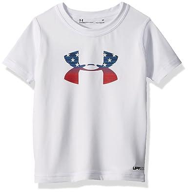 2a822b7df1 Amazon.com: Under Armour Boys' Ua Stars & Stripes Big Logo Su: Clothing