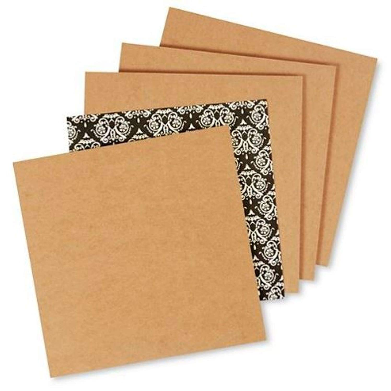 Secure Seal 12x12 Brown Chipboard Pads//Sheets 22pt Lightweight Pack of 10