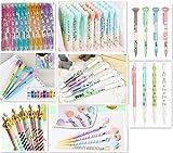 Jollin 12 Cute Kawaii Mechanical Pencils + Erasers & Lead Refills