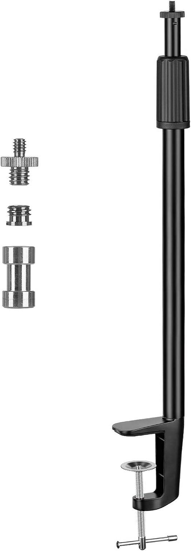 11 Tarion Tisch Lichtstativ Klemmstativ 35 62cm Einstellbar Licht Einbeinstativ Mit 1 4 Schraube Und 1