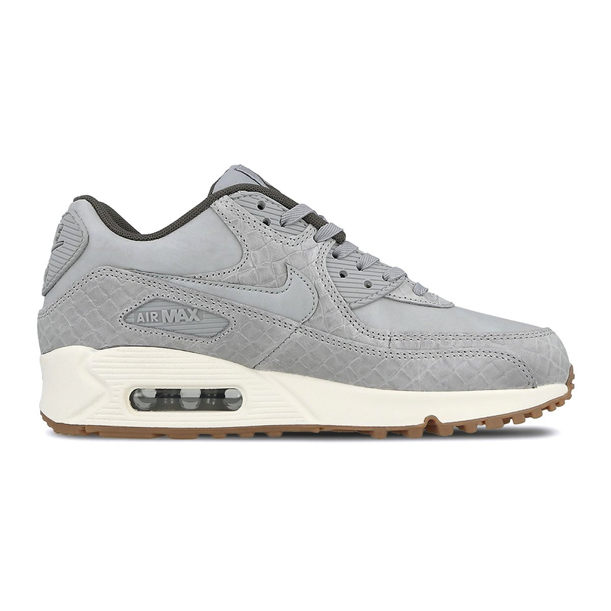 Nike Air Max 90 Premium Womens Running Tennis Shoes Wolf Grey Size 10 443817 011