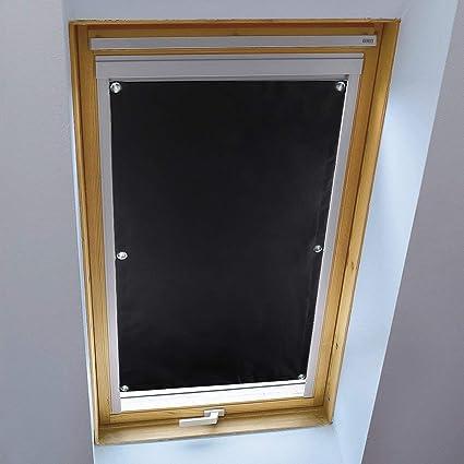 Kinlo Sans Perçage Store Occultant Pour Fenêtre De Toit 4893cm Installation Facile Store Enrouleur Noir à Ventouse En Polyester Rideaux Isolant