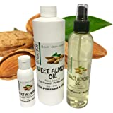 Sweet Almond Oil- 5 Sizes Available. NakedOil Sweet Almond Oil Cold Pressed Mediterranean! Skin, Hair, Carrier, Massages & More! (2 Ounce)