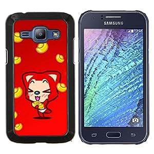 LECELL--Funda protectora / Cubierta / Piel For Samsung Galaxy J1 J100 -- Naturaleza Campo Frontera --