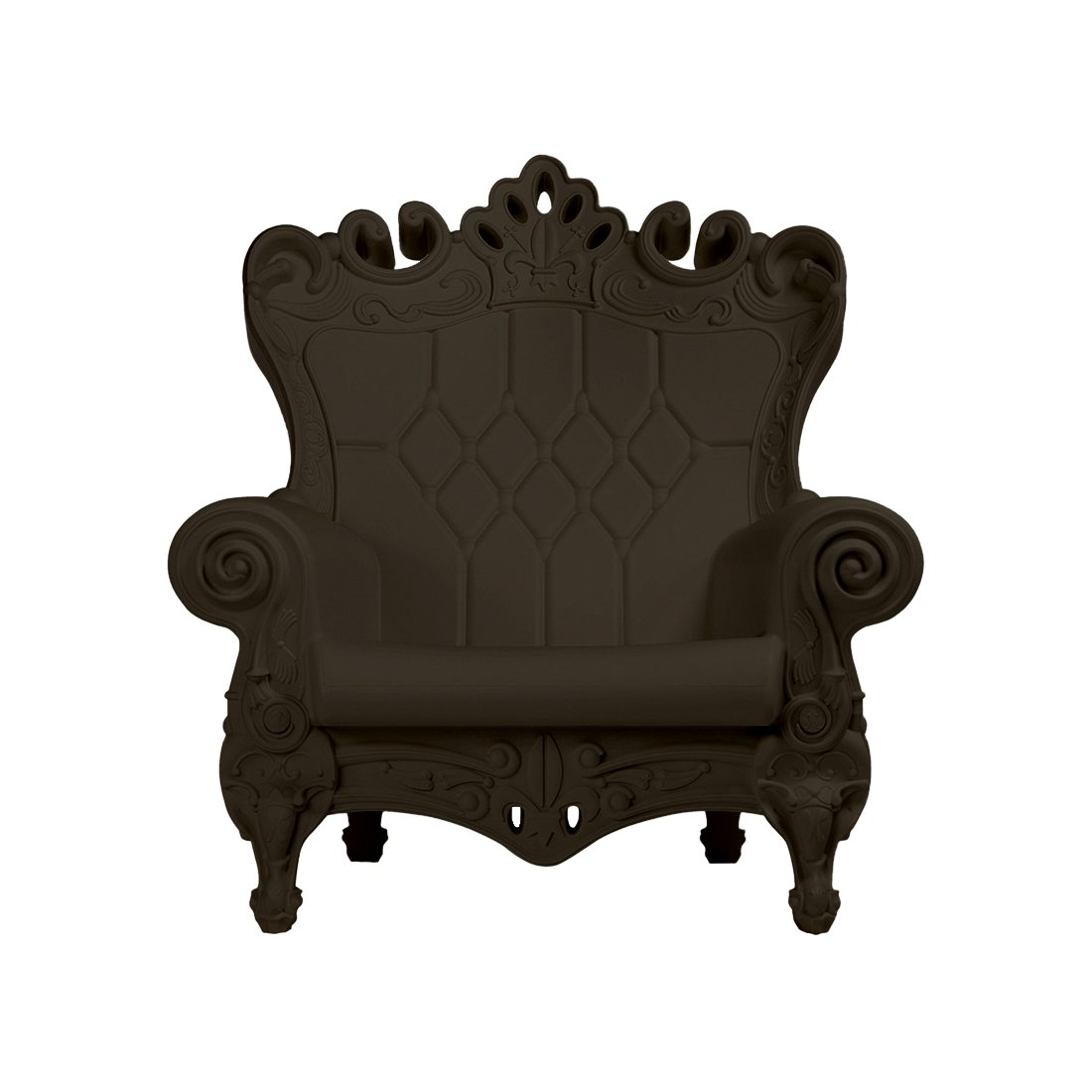 Design of Love - Slide Design - Little Queen of Love Baby armchair Chocolate Brown (Original made in Italy)