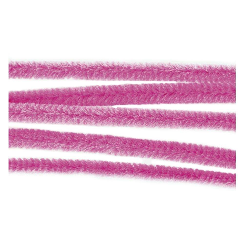 Pfeifenputzer, Chenilledraht Biegeplüsch Ø 9mm / 30cm rosa, 25 Stück 25 Stück Piccolino Bastelbedarf