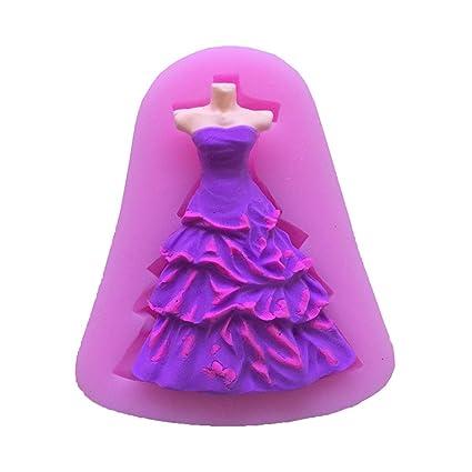 1 pcs Priness vestido Cup Cake Decoración Chocolate Molde Silicona Fondant Moldes para jabón Candy Chocolate