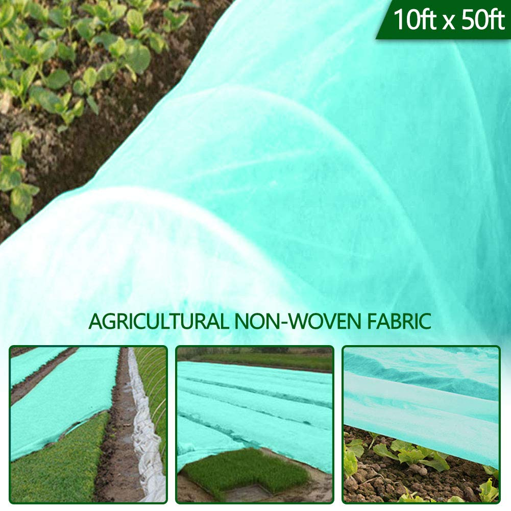 Caiyuangg Row Covers, Row Crop Cover Frost Blanket Fabric Plant Cover for Summer UV Protection, Winter Frost Protection (10×50ft)