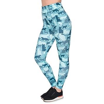 POAONOSS Pantalones de Yoga Mujeres Elegantes de Cintura Alta ...