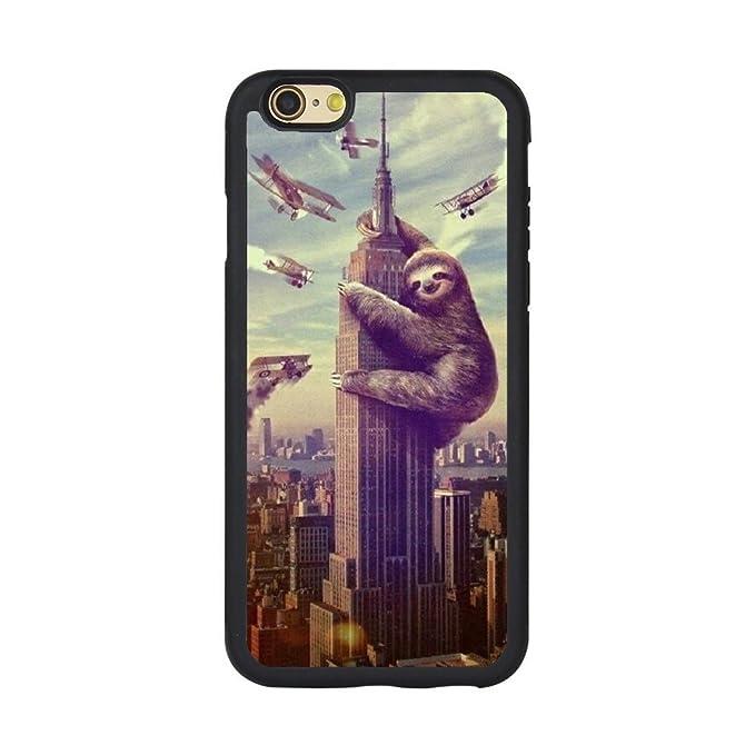 online retailer 389e6 33573 Amazon.com: Cute Sloth iPhone Case iPhone 5/5s/SE, 6/6s, 6P,7/8,7P ...
