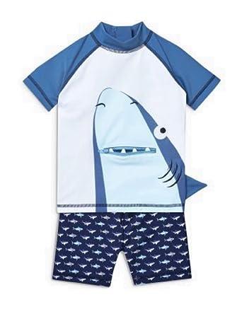 35c8996f53b56 Next Boys Swim Shorts & Sunsafe Top Age 3 4 Shark Swimming Set:  Amazon.co.uk: Clothing