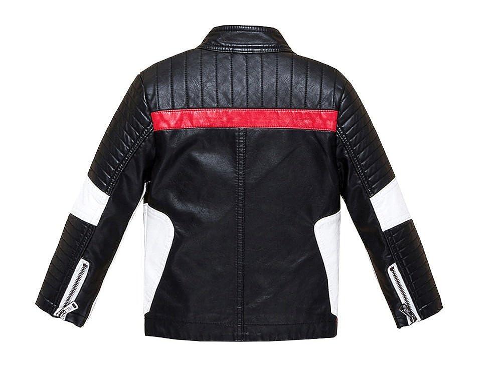 Stesti Winter Coat For Toddler Boys Korea Leather Jacket Winter Coat For Toddler Girls