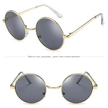 Rumas Retro - Gafas de sol redondas para mujer, protección de sombra, polarizadas,