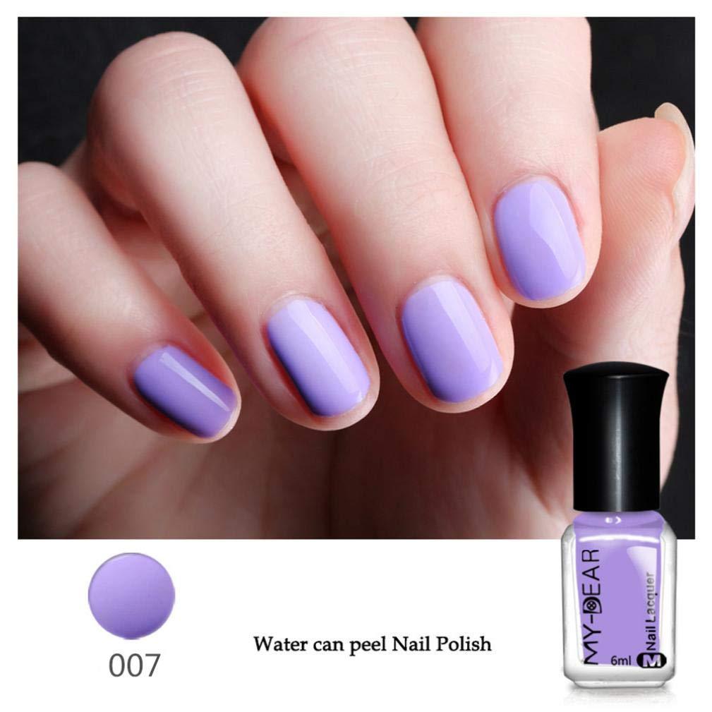 Amazon.com: Nail Polish LtrottedJ 6ml Nail Art Water-Based Peel Off Peelable Polish Nail Lacquer Care Nail Art (D): Health & Personal Care