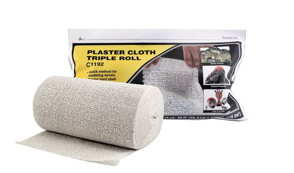 WOODLAND SCENICS C1192 Plaster Cloth Triple Roll 8 in x 30'