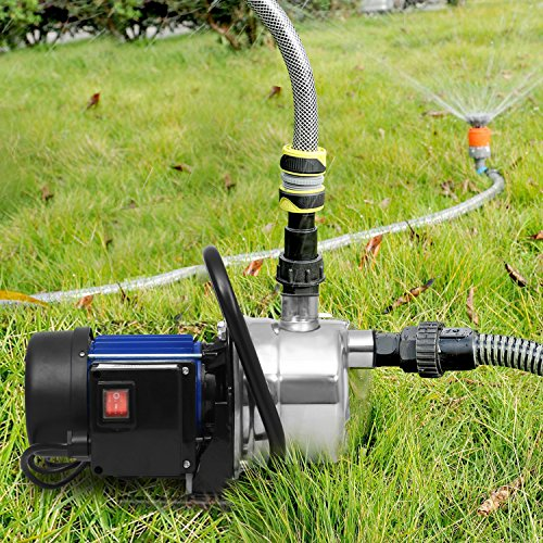 Irrigation Pressure Pump - 1.6HP Shallow Well Sump Pump Stainless Booster Pump Lawn Water Pump Electric Water Transfer Home Garden Irrigation(1.6 HP_Blue)