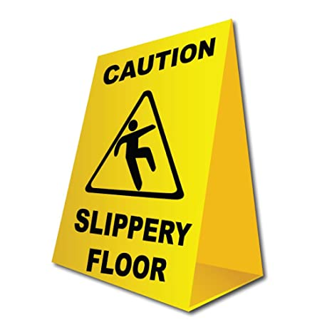 Amazon.com: VictoryStore Signs: Caution Slippery Floor ...