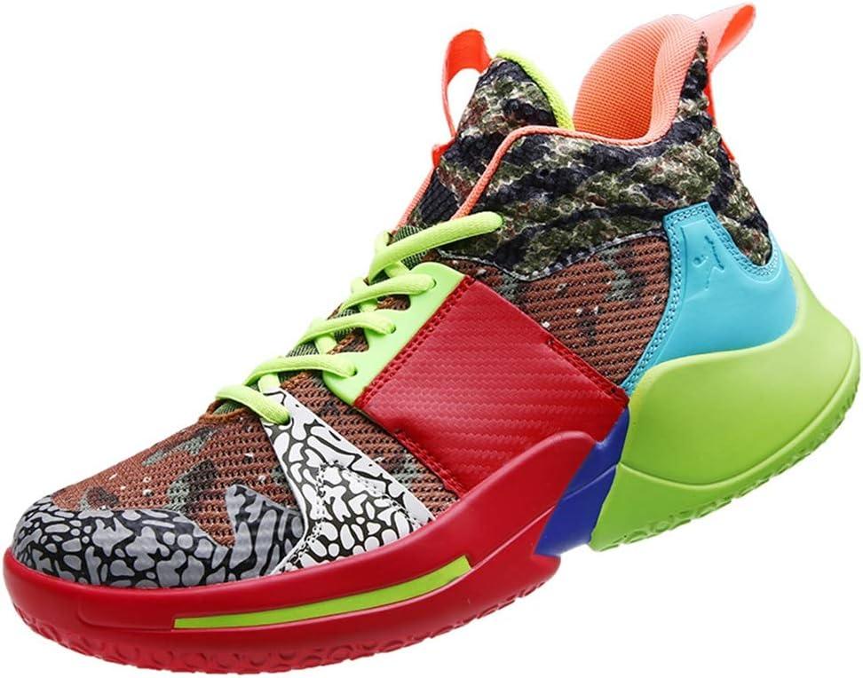 FJJLOVE Zapatos de Baloncesto en el Exterior Antideslizante Zapatillas de Running-Top del Alto de la Zapatilla de Deporte Ligera Choque Zapatos de absorción Deportes Respirables Baloncesto Botas,A,37: Amazon.es: Hogar