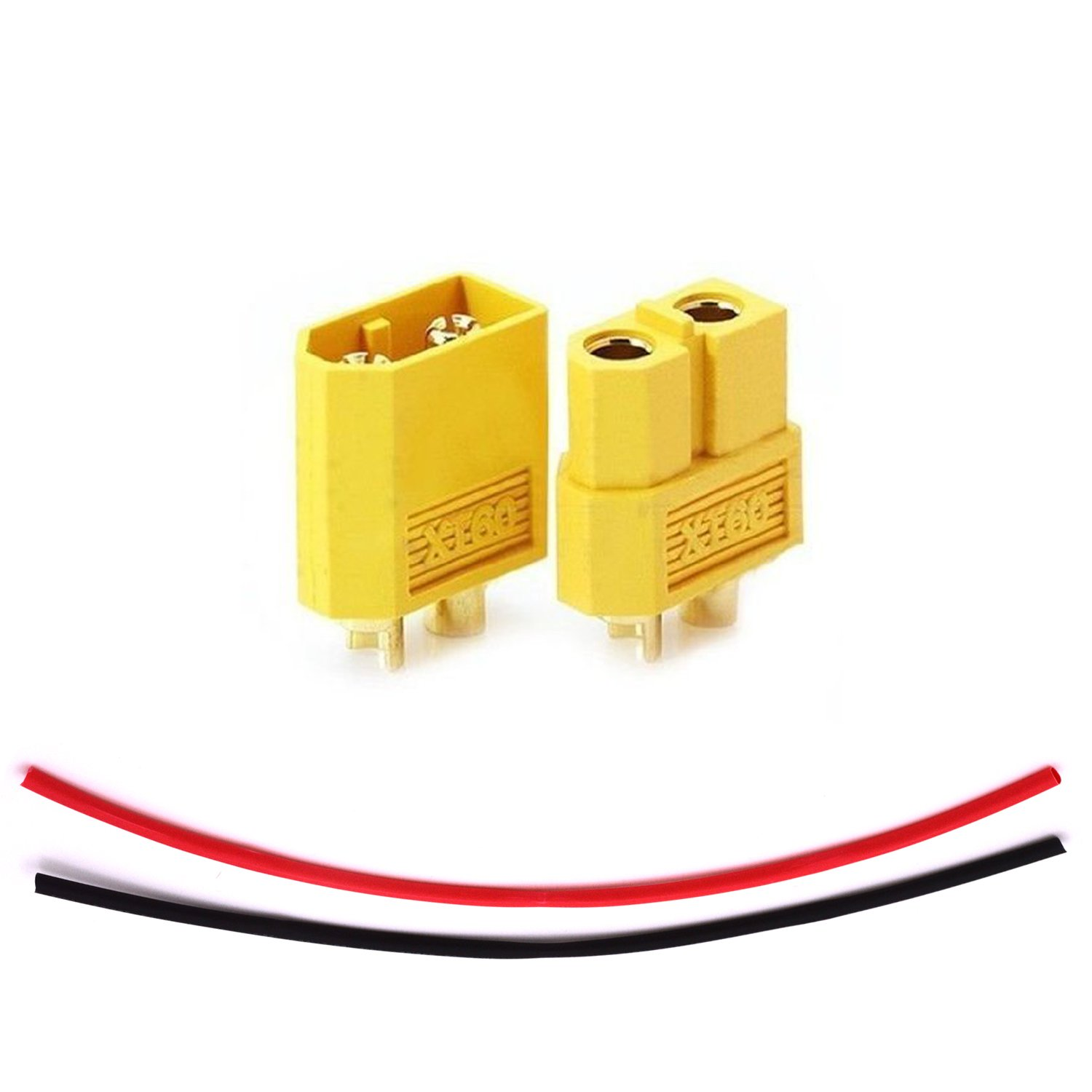 LHI 5 Pairs XT60 Male Female Bullet Connectors Plugs For RC Lipo Battery