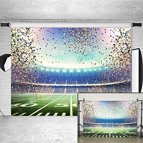 eld Backdrop Sport Stadium Confetti Photography Background 7x5ft Vinyl Sport Themed Party Decoration Portrait Photo Backdrops (Field Gold Series Stadium)