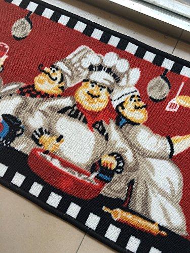 Maxyoyo 2 Pieces Fat Chefs Kitchen Floor Mats Runner Rug