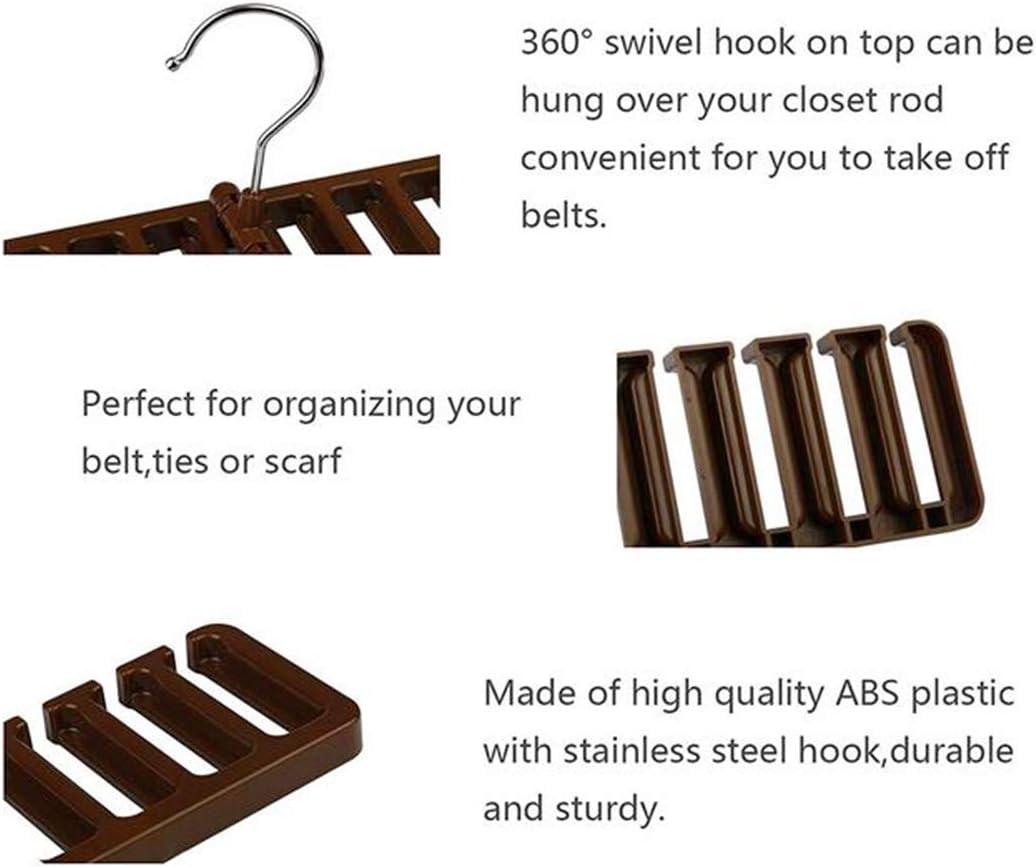 Biluer 3PCS Belt Hanger Tie Holder Belt Rack Belt Storage Rack For Belts Ties Scarves Organization Wardrobe Closet Storage Accessories,10 Grid Black,Brown,White