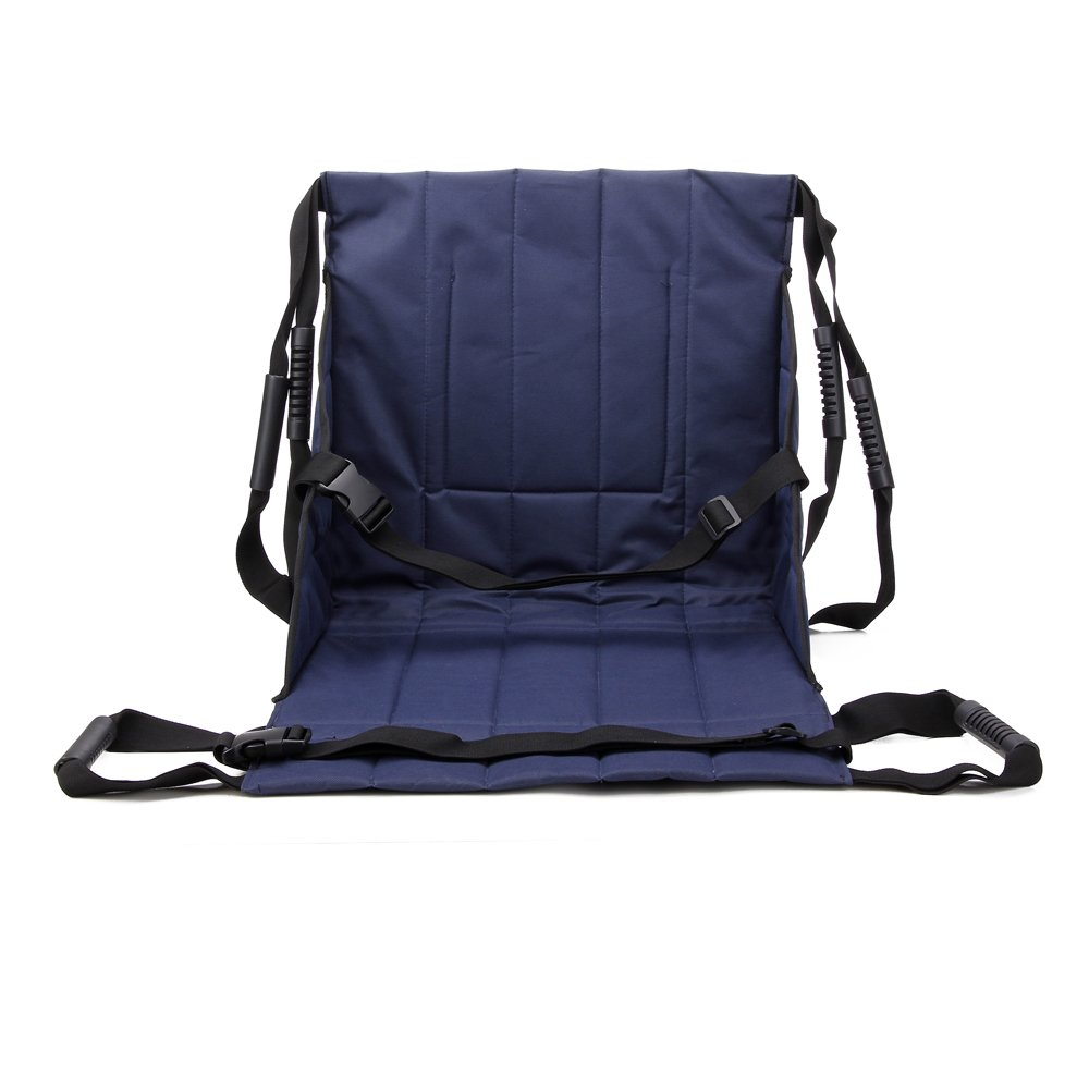 Patient Lift Stair Slide Board Transfer Emergency Evacuation Chair Wheelchair Belt Safety Full Body Medical Lifting Sling Sliding Transferring Disc Use for Seniors,handicap (Blue - 4 Handles) by NEPPT (Image #2)