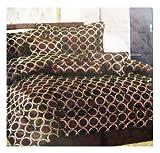 Spring Collection -7pcs Bedding Set - Queen size Bed In A Bag (Café)