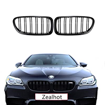 F10 Grille,Front Replacement Kidney Grille Grill for BMW 2010-2020 5 Series F10 F11 F18 M5 (Gloss Black): Automotive