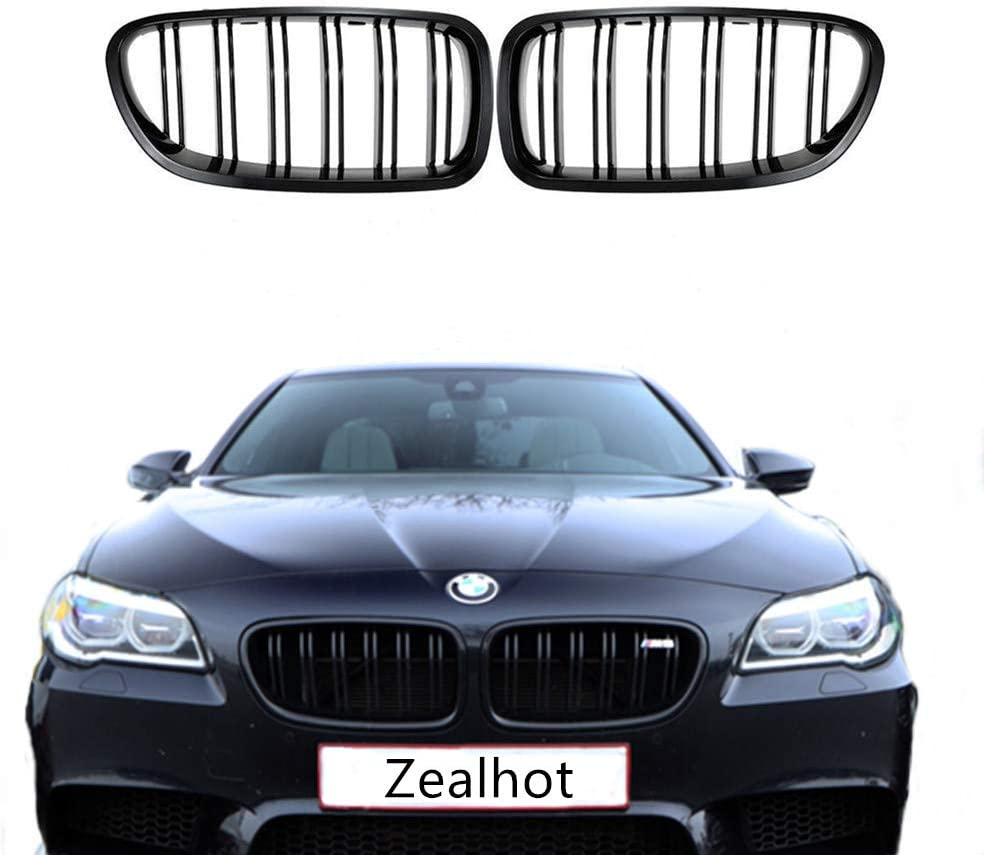 F10 M5 Look Sedan Wagon M-Color Metal Type Shiny Black Front Grille For BMW