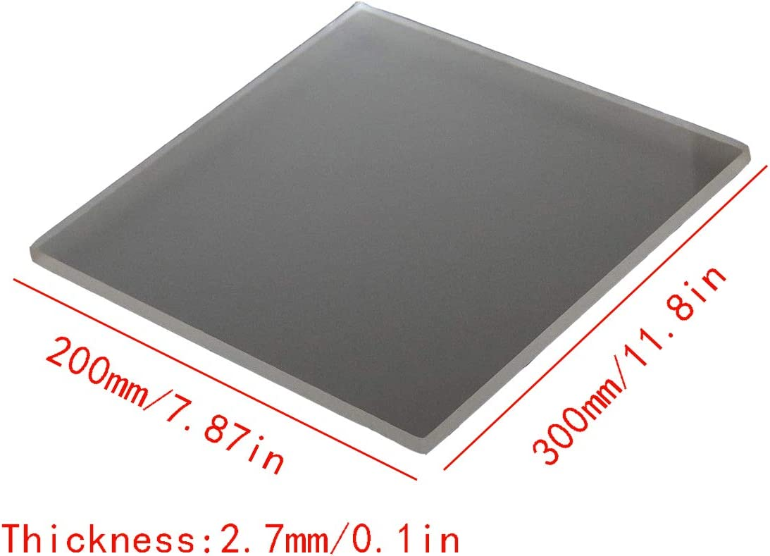 Thickness:2.7mm,200x300mm Wzqwzj Frosted Plexiglass Sheet with Protective Paper Acrylic Sheet