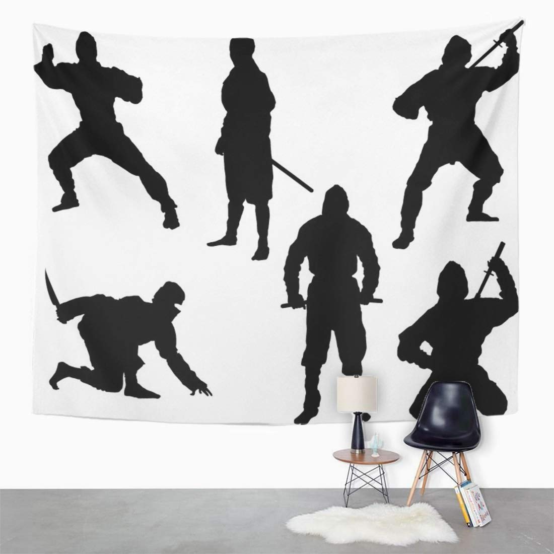 Amazon.com: Semtomn Tapestry Japanese The of 6 Ninja ...