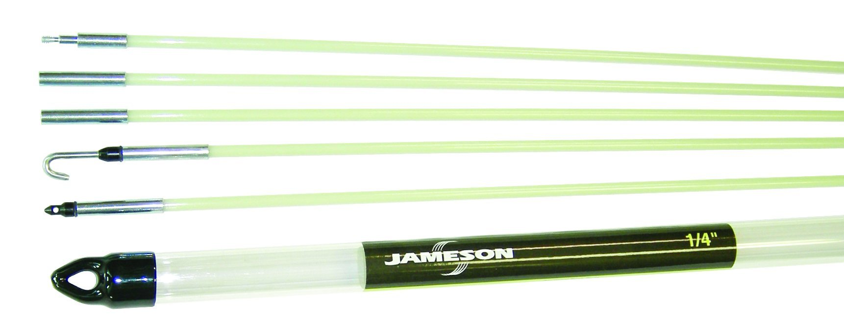Jameson 7-36-23T Glow Rod Wire Electrical Fishing Kit with 24 Total Feet of Fiberglass Rod