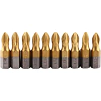 "10 Pcs 1/4"" PH2 Puntas de Destornillador"