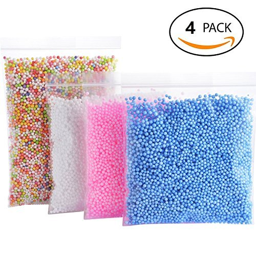 Craft Foam for Slime,Flora Decoration Foam Beads,Wedding and Party Decoration(4 Pack) Todbot