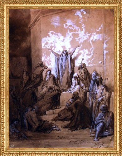 Art Oyster Gustave Dore Jeremiah Preaching to His Followers - 21.05