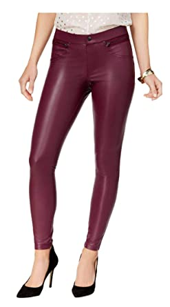 3ff9a5b5faf93 Image Unavailable. Image not available for. Color: HUE Women's Faux-Leather  Leggings ...