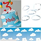 5 Pieces DIY Fondant Cake Mold Decorating Tool Cloud Shape Cake Cutter Kitchen Cooking Accessories