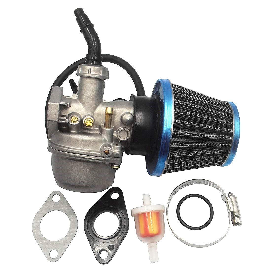 ATV Carburetor PZ19 with 35mm Air Filter Fuel Filter for/Taotao ATV Dirt Pit Bike Honda CRF By LIAMTU 50cc/70cc 80cc 90cc 110cc 125cc